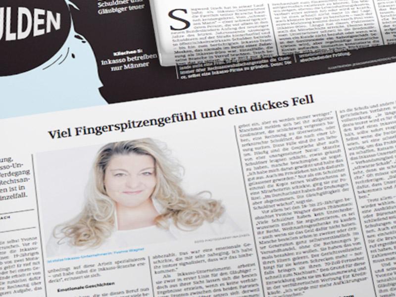 FAZ berichtet über den Werdegang von System Inkasso Geschäftsführerin Yvonne Wagner in der Zeitung