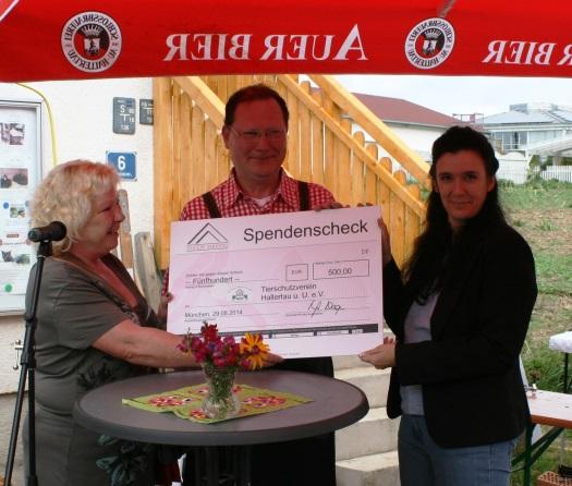 500,- Euro für den Tierschutz